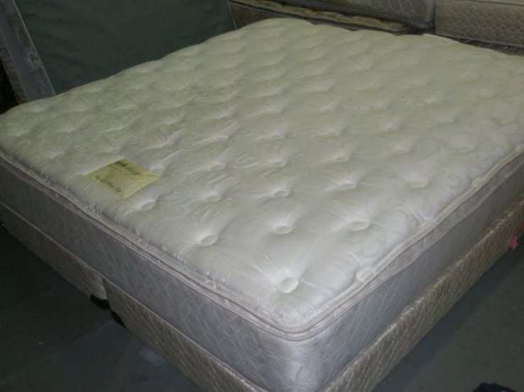 King Used Double Pillow Top Used Mattress Set Free Delivery 100