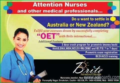 BRITE - ONE TO ONE COACHING FOR OET &IELTS -Kochi Adhoards
