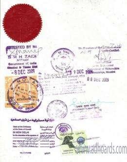 MCA Degree Certificate Attestation For Kuwait In Vadodara -Vadodara