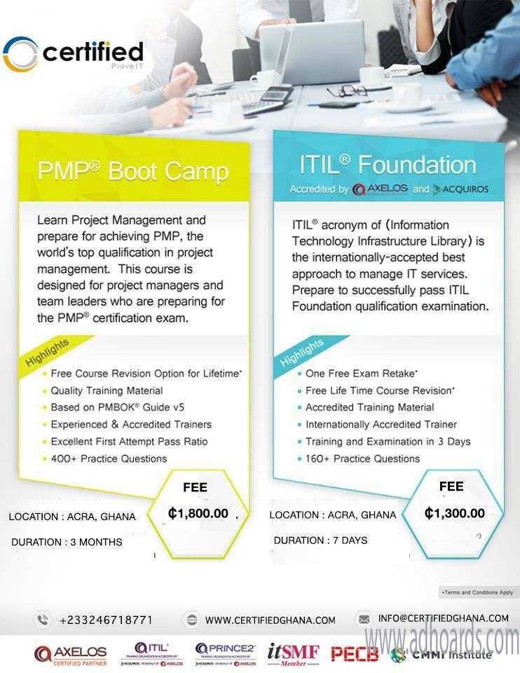 Pmp Certification Training Exam Prep Course Accra Adhoards